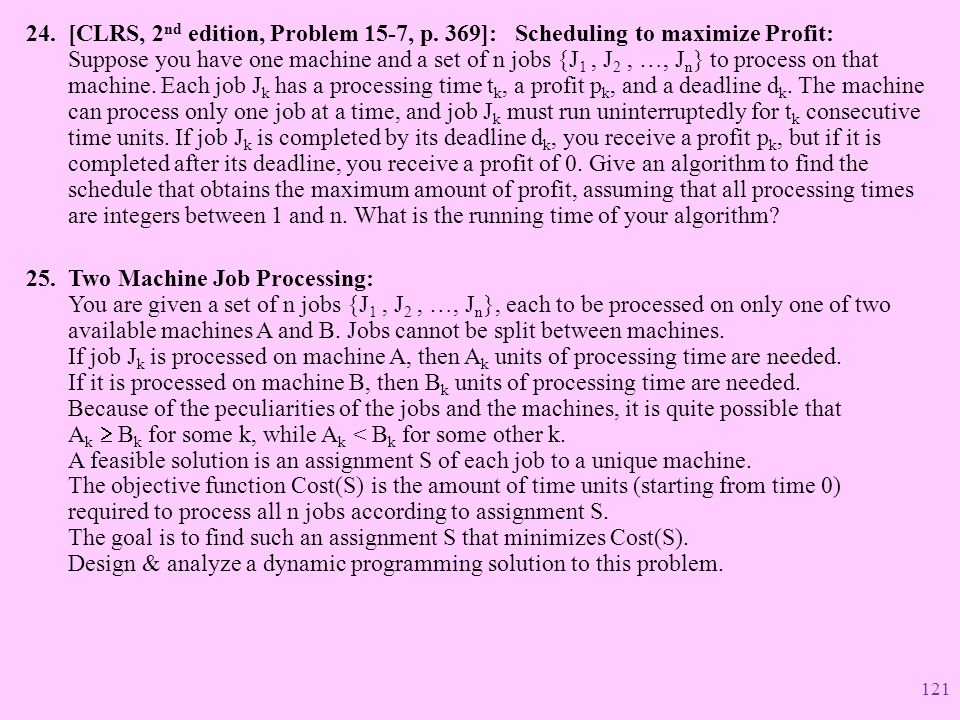 [CLRS, 2nd edition, Problem 15-7, p